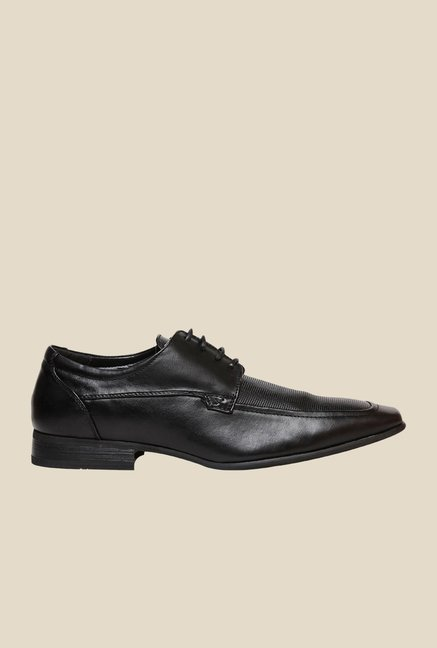 Bata Qdaved Black Derby Shoes