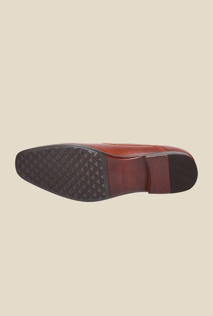 Bata Qddu Brown Derby Shoes