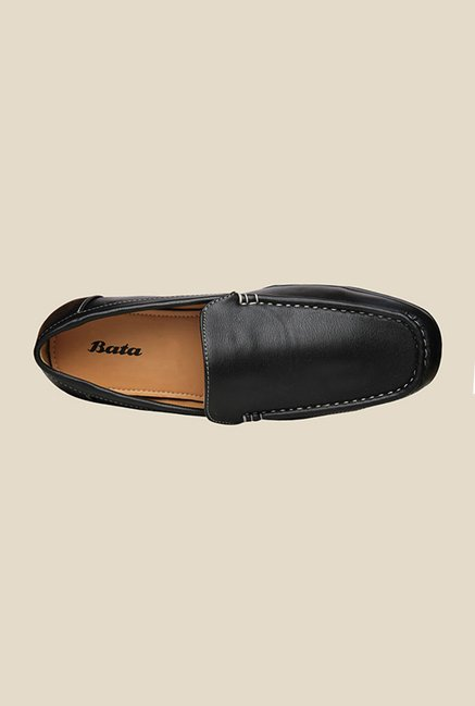 Bata Black Casual Loafers