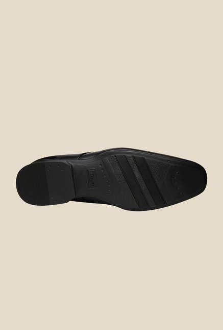 Bata Charger Black Derby Shoes