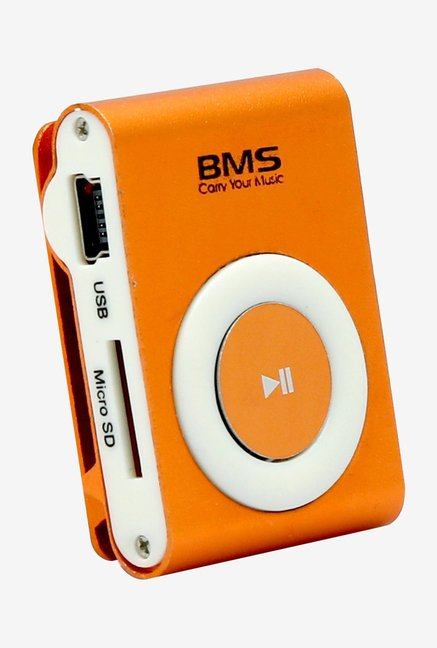 BMS Edge MP3 Music Player with 2GB Micro SD Card (Orange)