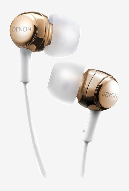 Denon AH-C260 Dynamic In the Ear Stereo Headphones (Gold)