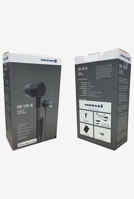 Beyerdynamic 715719 iDX 120 iE with Mic (Black/Silver)