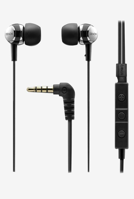 Denon AH-C260R Stereo Headphones for iPhone (Black)