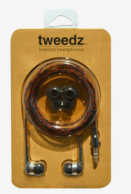 Tweedz Durable Headphones Nylon Braided Fabric Cords (Black)