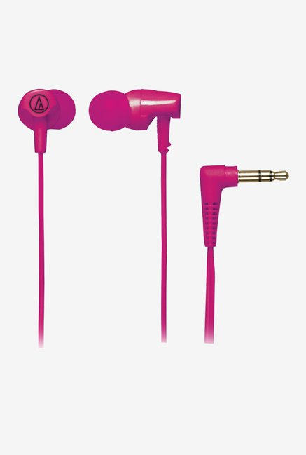 Audio Technica ATH-CLR100PK In The Ear Headphones (Pink)