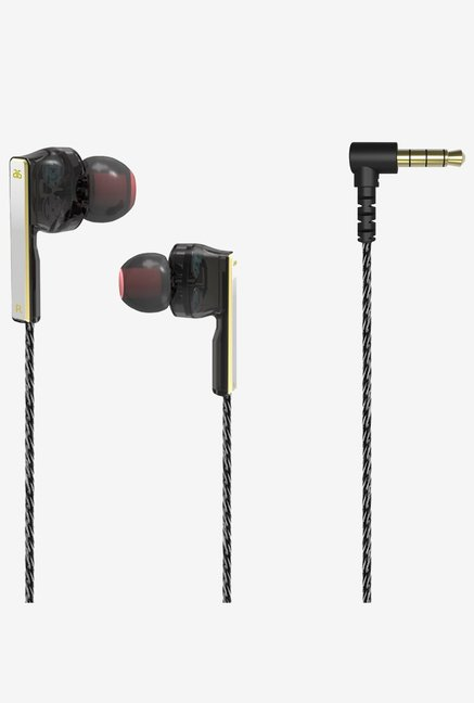 Generic la AS-V2 Dual Symphonic-Driver Earphones (Black)