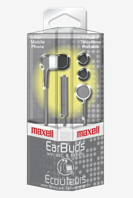 Maxcell 190302 In The Earbud Silver