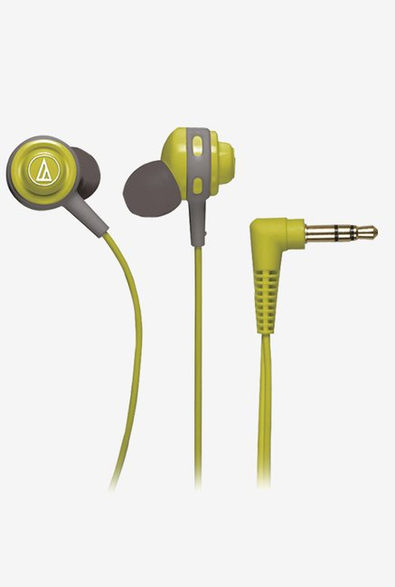 Audio Technica ATHCOR150LG In The Ear Headphones (Green)