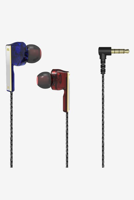 GranVela V2 Symphonic In the Ear Stereo Earphone (Red/Blue)