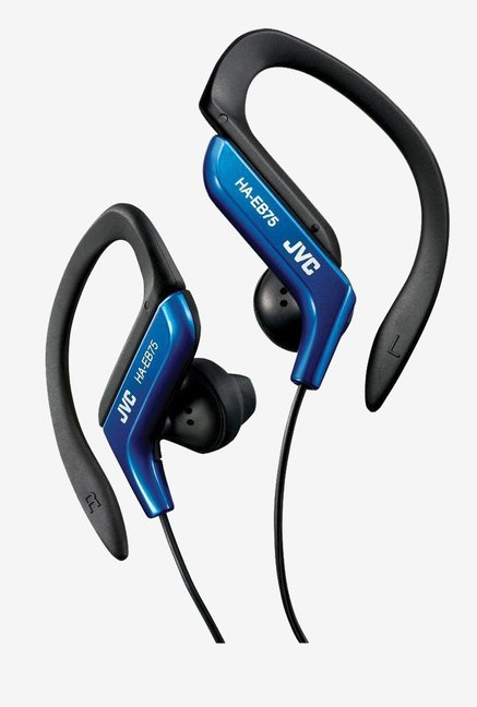 JVC HA EB75 Water-Resistant Active sport Headphones (Blue)