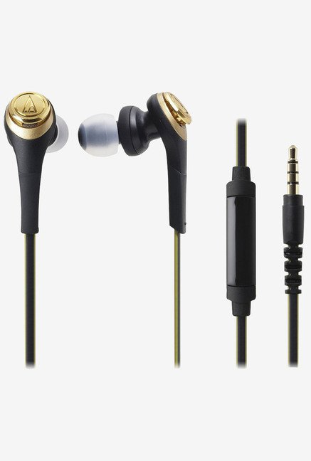 Audio Technica ATH-Cks550Is Solid Bass Black Gold Headphones