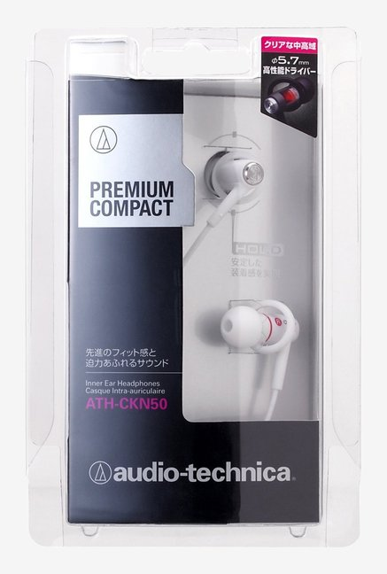 Audio Technica ATH-CKN50 Premium Headphones (White)