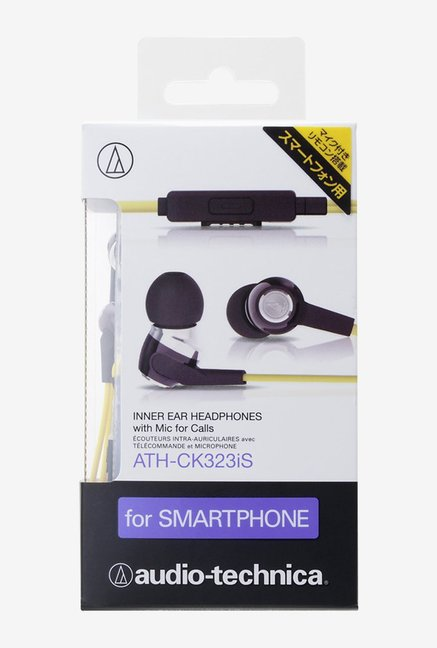 Audio Technica ATH-CK323iS for Smartphones (Yellow)