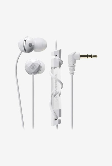 Audio Technica ATH-CKF303 In the Ear Headphone (White)
