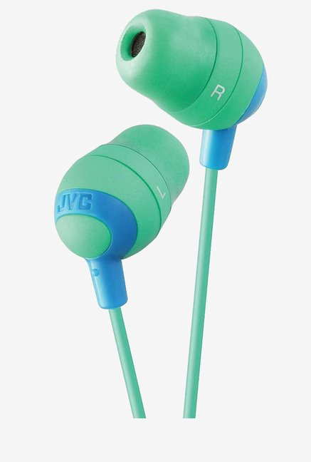 JVC Stereo Water-Resistant Noise Isolating  (Green)