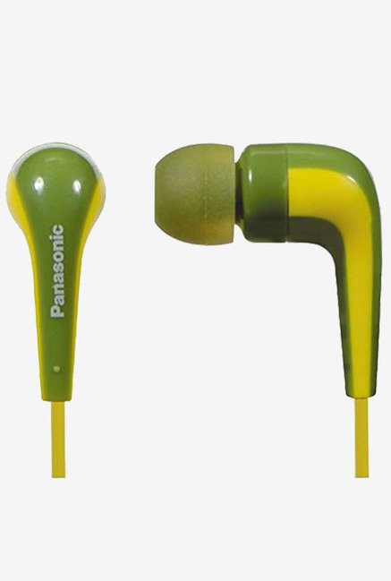Panasonic RP-HJE140E-G In The Ear Headphone (Green)