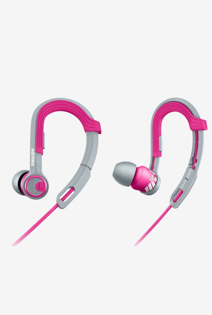Philips SHQ3300PK/00 ActionFit Sports Headphones (Pink)
