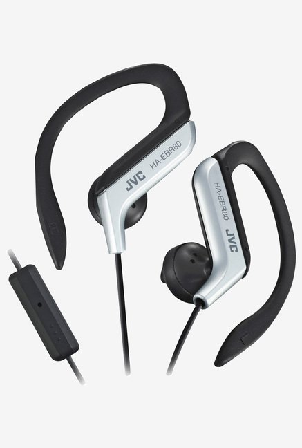 JVC HAEBR80S Sports Clip High Quality Headphones (Silver)