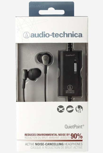 Audio Technica ATH-ANC23BK QuietPoint Noise-Cancelling