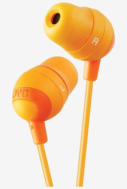 JVC Stereo In The Ear earbud Lightweight Headphones (Orange)