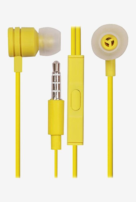 Jkobi In The Ear Bud Handsfree Headset Earphones (Yellow)