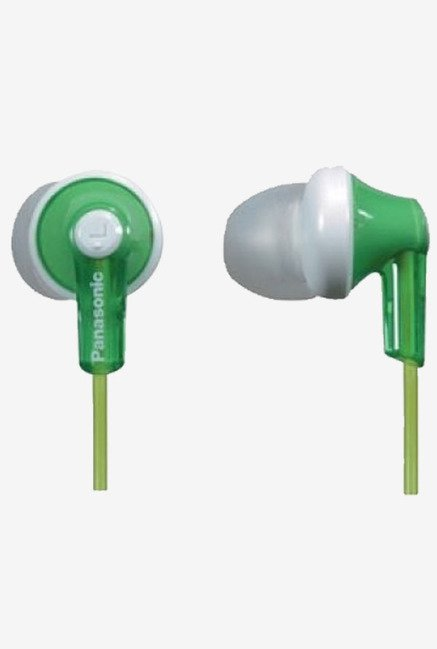 Panasonic RP-HJE120E-G Ergo Fit In The Ear Headphone (Green)