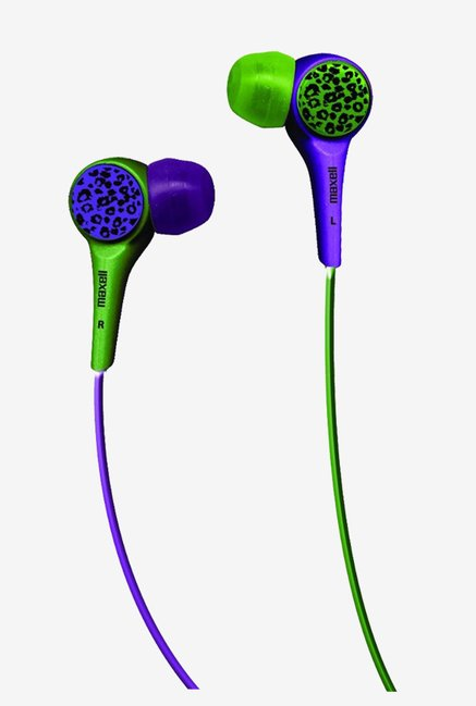 Maxell 190343 Purple and Green In The Ear Buds