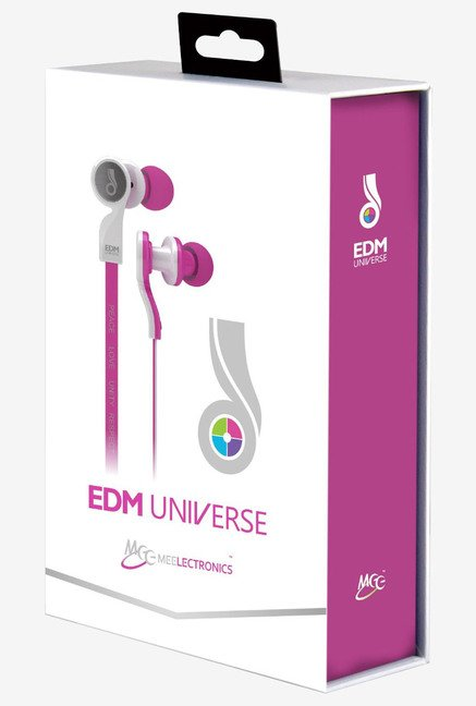 MEE Audio EDM Universe D1P In The Ear Headphones(Pink).