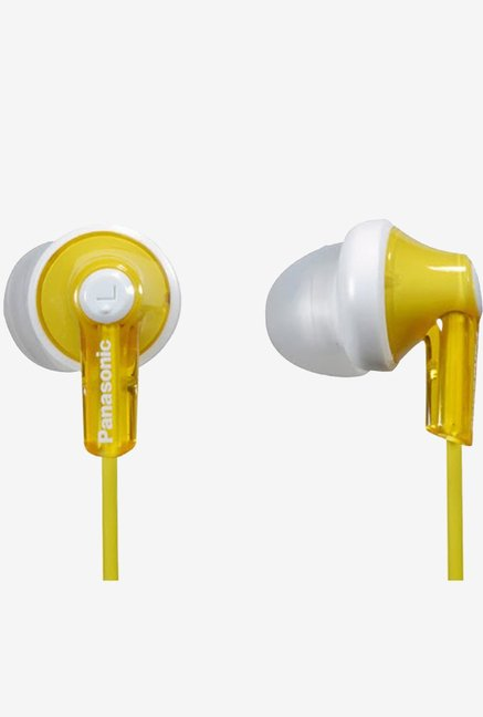 Panasonic RP-HJE118E-Y In The Ear Canalphone Yellow