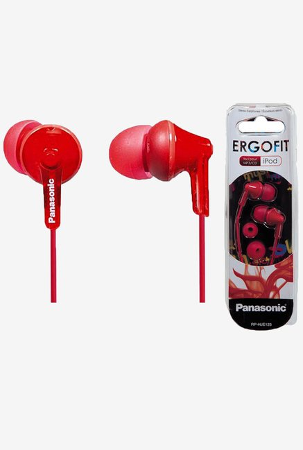 Panasonic RP-HJE125E-R In The Ear Canalphone (Red)