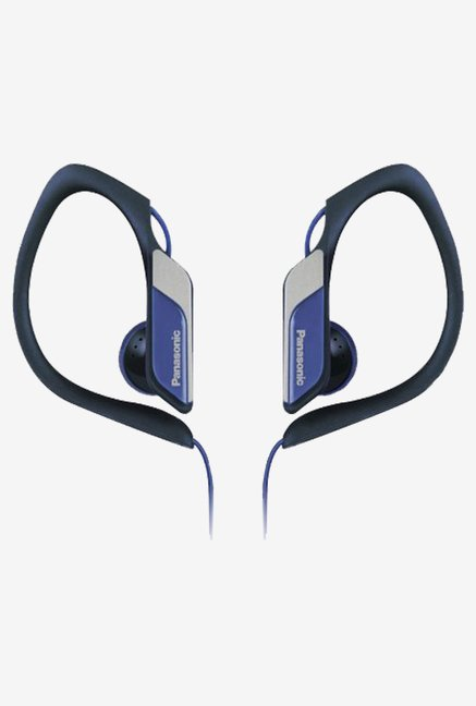 Panasonic RPHS34A Sports Clip Earbud Headphones (Blue)