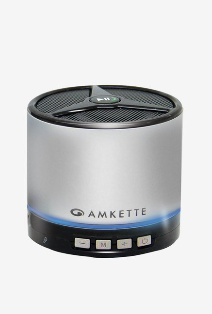 Amkette FDD663SL Portable Bluetooth Speaker (Silver)
