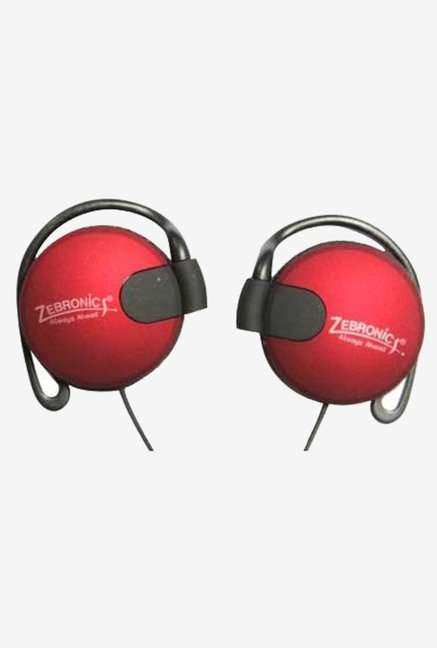 Zebronics ZEB-EM1020 On The Ear Headphone (Red)