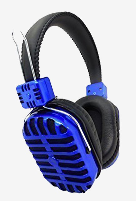 Armor DEHP-1500M-BLU On The Ear Headphones (Blue)