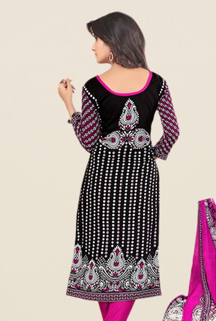 Salwar Studio Magenta Printed Dress Material