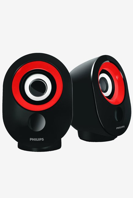 Philips SPA-50 2.0 Speaker with USB Plug (Red)