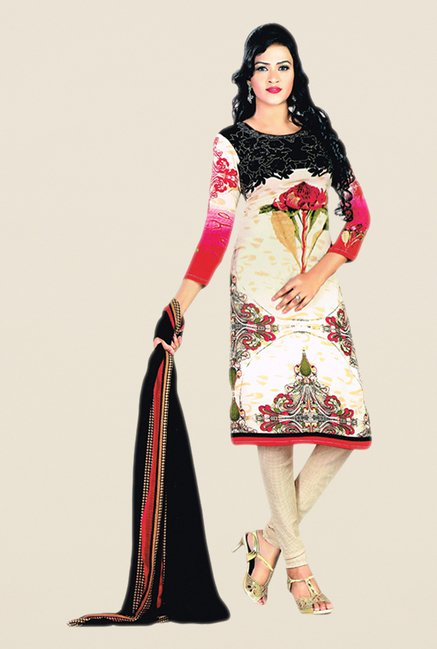 Salwar Studio Multicolor Floral Print Dress Material