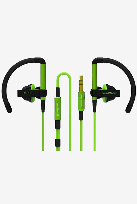 SoundMAGIC EH11 Sports In the Ear Headphones (Green)