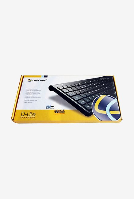 Lapcare D-lite WS-KB-8134 USB Mini Keyboard (Black)