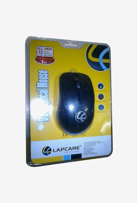 Lapcare L 70 1000 DPI Wired Optical Mouse (Black)
