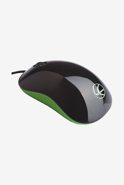 Lapcare L 90 1000 DPI Wired Optical Mouse (Green)