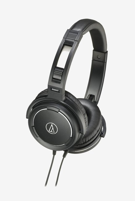 Audio Technica ATH-WS 55 On-Ear Headphone (Black)