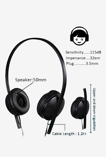 KolorEdge 4353-HEADPHONE29 On the Ear Headphone (Black)