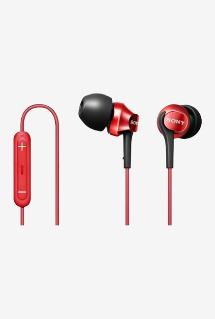 Sony DR-EX101IP-R In-Ear Headphones (Red)