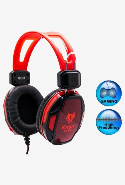 Headphone With Mic Model No. EH-99 (Red)