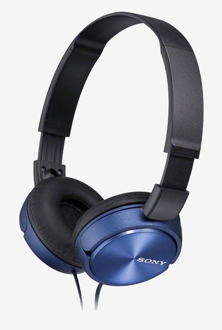 Sony MDR-ZX310AP Sound Monitoring Headphones (Blue)