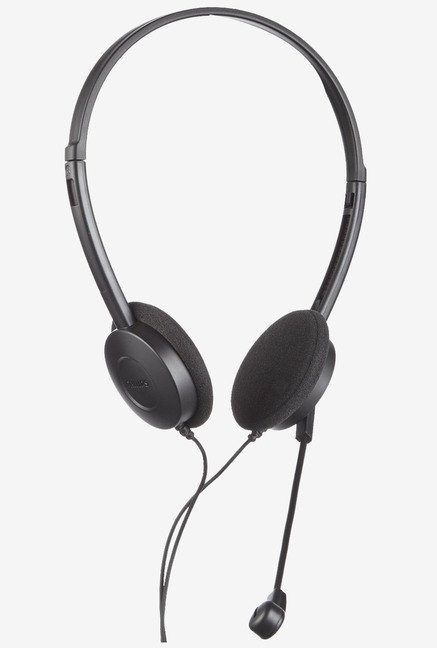 Philips SHM1500K/93 On the Ear PC Headphone With Mic (Black)