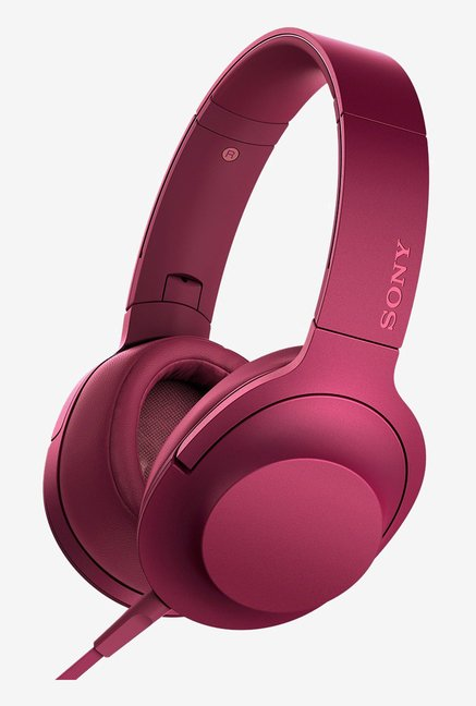 Sony MDR-100AAP On the Ear Audio Headphones (Bordeaux Pink)