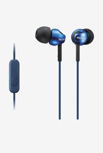 Sony MDR-EX100LP In the Ear Lightweight Headphones (Blue)